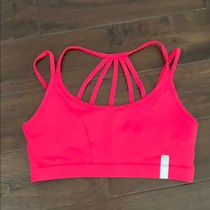 Forever 21 fuscia sports bra Sz l NWT activewear